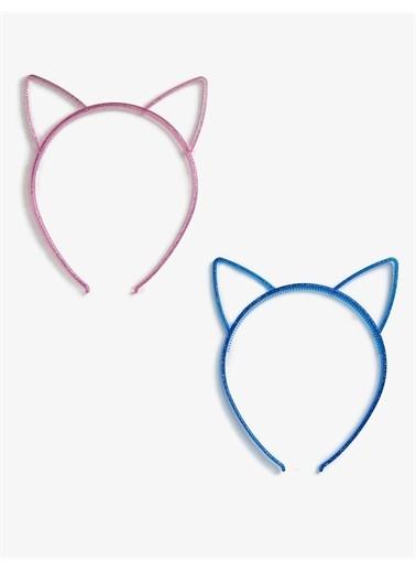 Koton 2'li Kedi Figürlü Taç Pembe